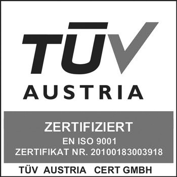 TÜV Austria - ISO 9001 - Zertifikat