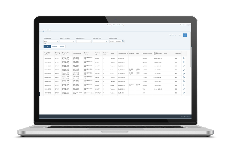 Improve collaboration between shippers and carriers with Westernacher Dock Appointment Scheduling