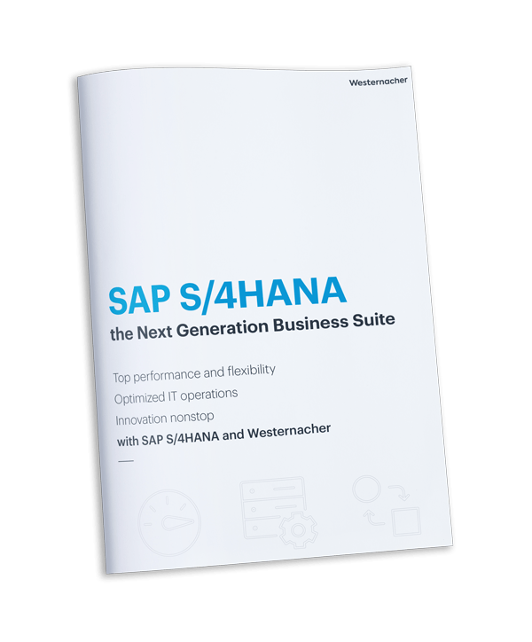 Westernacher Insights: 6 steps to your digital transformation with SAP S/4HANA. Download your brochure.
