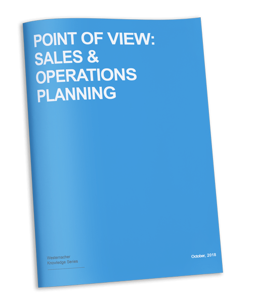 Westernacher Knowledge Series: POV - Sales and operations planning - brochure