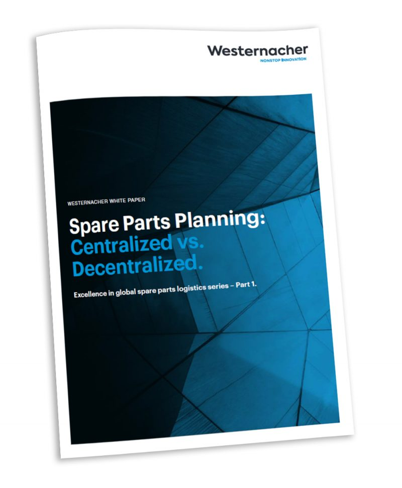 Centralized vs. decentralized spare parts planning